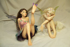 Fiorella and Lilianna flower fairies by AmandaKathryn