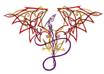 Celtic knot Dragon by AmandaKathryn