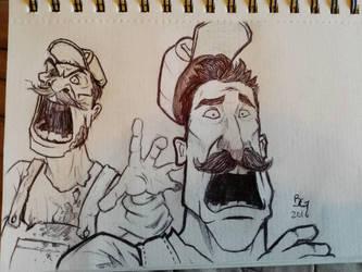 Mario Dines by B2DaRice