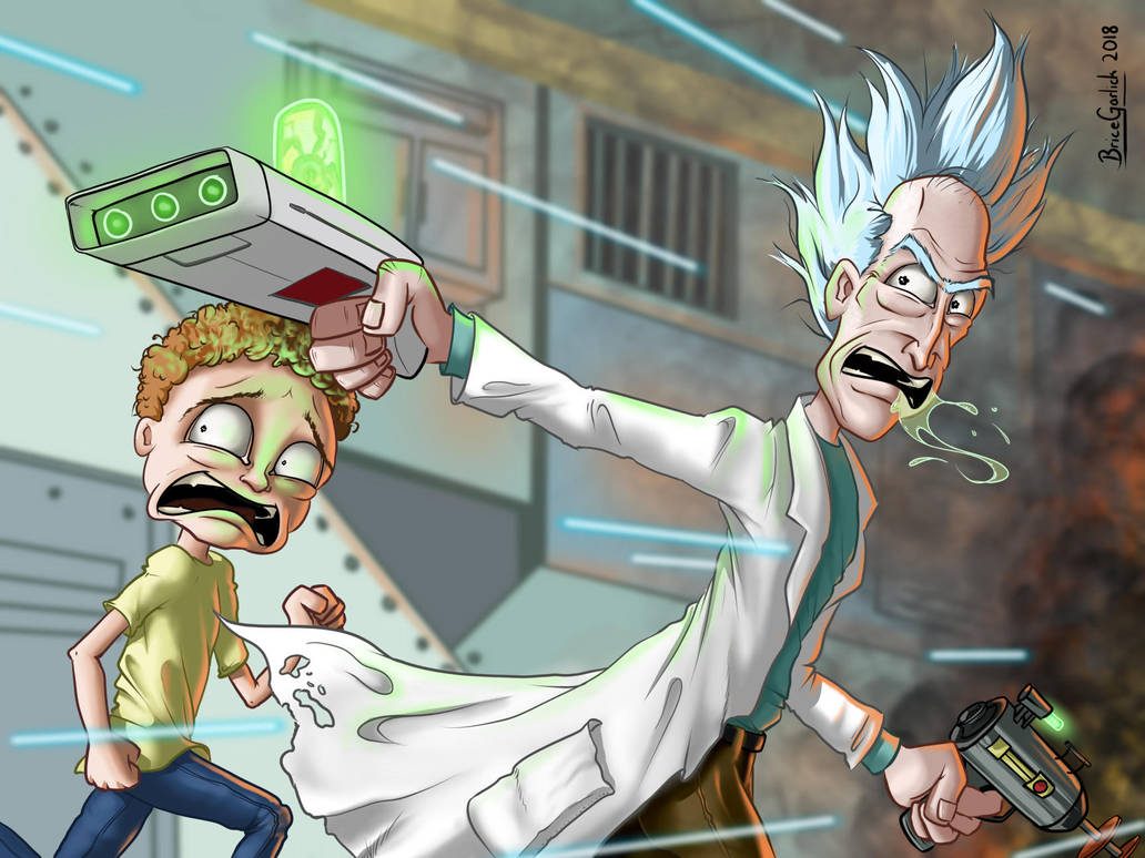 RUN MORTY!!  WE'RE IN A DRAWING!!  by B2DaRice