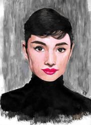 Audrey Hepburn turtleneck by smjblessing