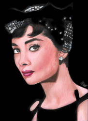 Audrey Hepburn from Sabrina by smjblessing