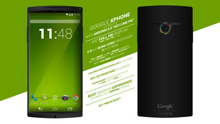 GOOGLE XPHONE CONCEPT ART by 96design