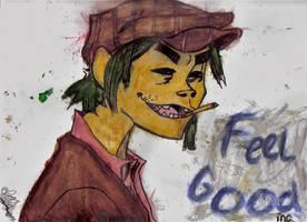 2-D watercolor by HappyManDomo