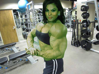 Eva Hulk Out by sheldor73