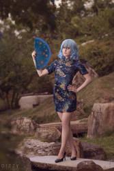 TP EoSD: Remilia Scarlet qipao by MartinaEdelstein