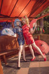 TP EoSD: Scarlet Sisters qipao V by MartinaEdelstein