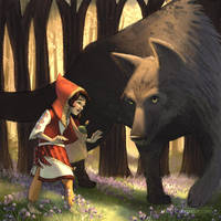 Red Riding Hood Meets the Wolf by jesschrysler