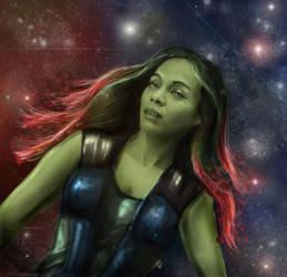 Guardians of the Galaxy - Gamora by waspany