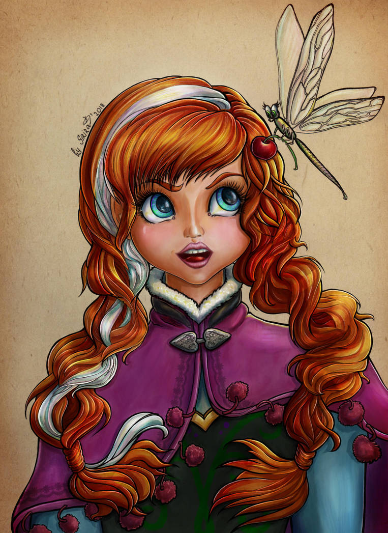 Anna with dragonfly by SiriraLiluria