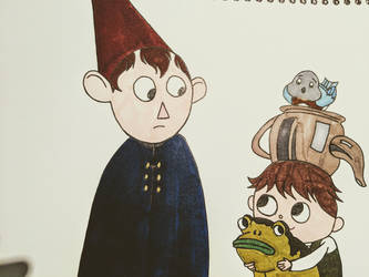 Inktober Day 1 - Over the Garden Wall by Before-I-Sleep