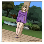 Shizuru in the garden by AntiopeDeThemiscyre