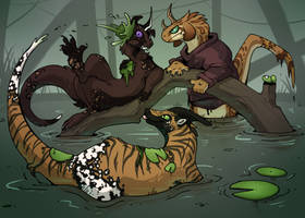 Waterweed Fight by TwoTassel