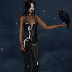 The  Crow female by Rhalath