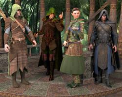 Wood Elf Hero's by Dracis3D