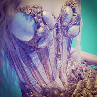 Mermaid corset close up by MysteriousMaemi