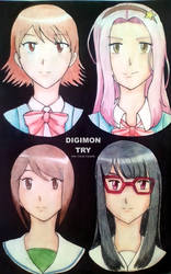 DIGIMON TRY Girls by Clover-crysidle
