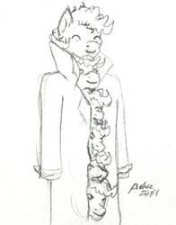 Pink coat by Azkre