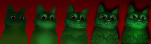 Saint Patrick's cat process by NaionMikato