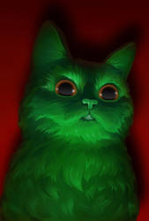 Saint Patrick's cat by NaionMikato