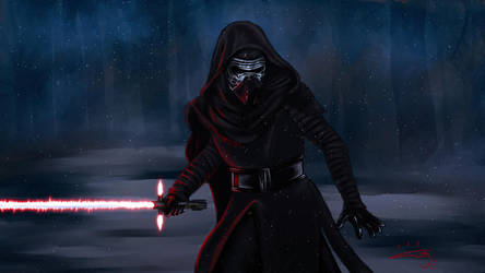 Kylo Ren by blue-but-beautiful