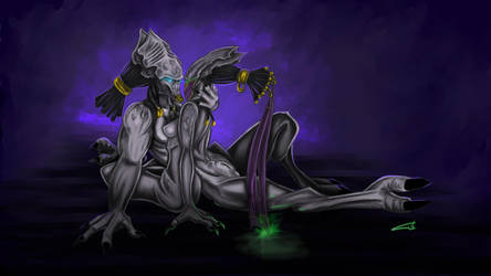Artanis x Vorazun by blue-but-beautiful