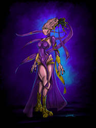 Azuna - Protoss OC Art Trade. by blue-but-beautiful