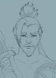 Hanzo Shimada by blue-but-beautiful
