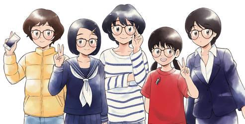 Five glasses girls by aragon-11