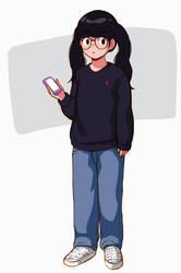 Japanese glasses girl by aragon-11