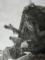 Temple (charcoal) by MattTOB