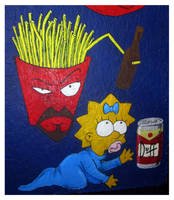 Frylock and Maggie Simpson by EuphoriouSin