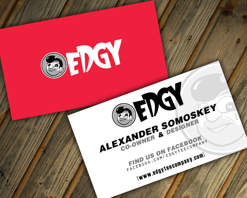 Edgy Tee Company Business Card By Witnessgfx On Deviantart