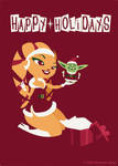 Happy Holidays by kittifiedmeow