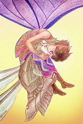 Butterfly kisses by kittifiedmeow