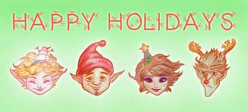 Happy Holidays! by kittifiedmeow