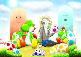 Yoshi Easter Egg by windgm