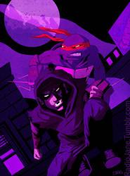 Jones and Hamato by RadioJane
