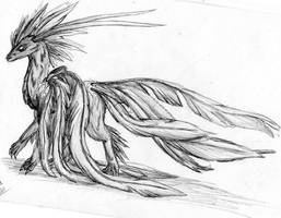 feathered display by midnightstardragon