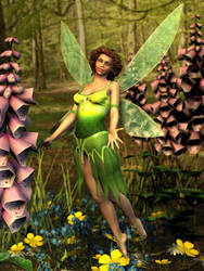 Flower Faerie by ravenscar45