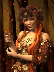 Autumn Robin by ravenscar45