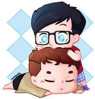 phan morning hug by impalardis