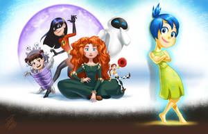 Pixar Girls - Fanart by paulo-peres