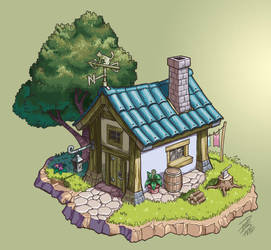 Fantasy House - Concept Art by paulo-peres
