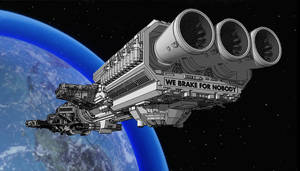 Spaceballs - Spaceball One - aft view by Shadowstate