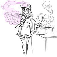 Twilight Sparkle practicing her culinary arts by JonFreeman