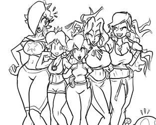 Nintendo Princesses by JonFreeman