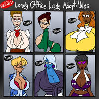 Lonely Office Lady Adoptitbles SOLD OUT by JonFreeman