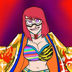 Asuka from WWE by JonFreeman