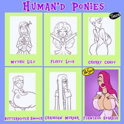 Human'd Ponies - 4/6 open by JonFreeman